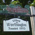 Village of Worthington sign