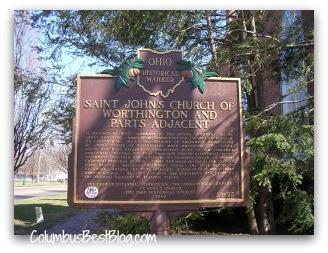 Worthington, Ohio historical  marker St. Johns Church
