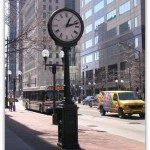 Clock on High St, Columbus, Ohio