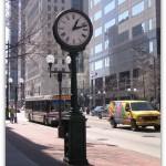 Clock on High St, Columbus, Ohio
