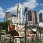 Columbus, Ohio and the Santa Maria on the Scioto River
