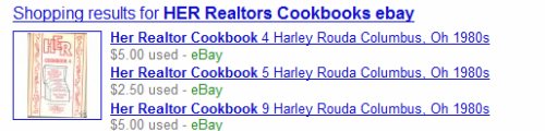 HER Realtors Cookbooks on ebay