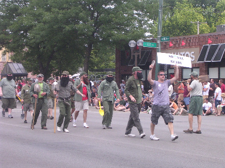 marching fidels Columbus Doo Dah Parade