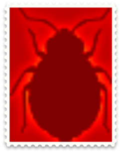 Infrared Bed Bug stamp