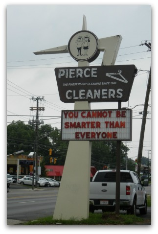Pierce Cleaners sign