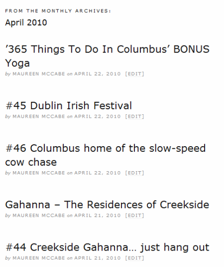Archives of  365 Things to do in Columbus Ohio