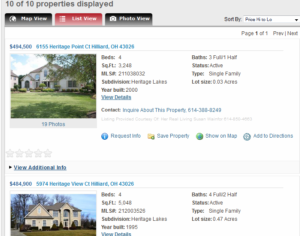 List View Columbus Home Search
