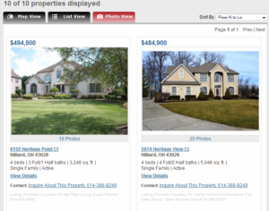 Photo View on Columbus Home Search