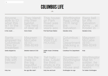 Columbus Life without the photos from the beginning