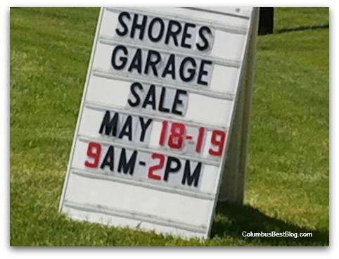 The Shore garage sale sigm