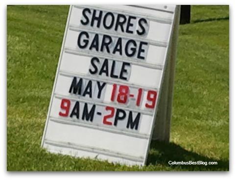The Shore garage sale sigm