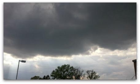 stormy central Ohio sky