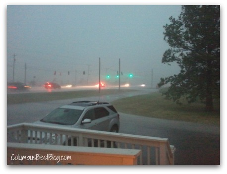 June 29, 2012 the storm hits Lewis Center area