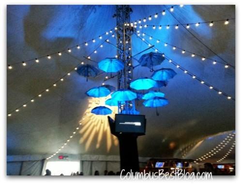 Inside the Cirque du Soleil tent