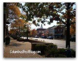 Worthington Ohio in the fall