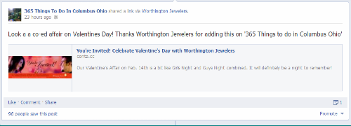 Worthington Jewelers invite on 365 Things to do in Columbus Ohio