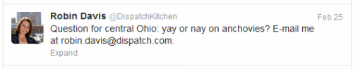 Columbus Dispatch Kitchen  tweet