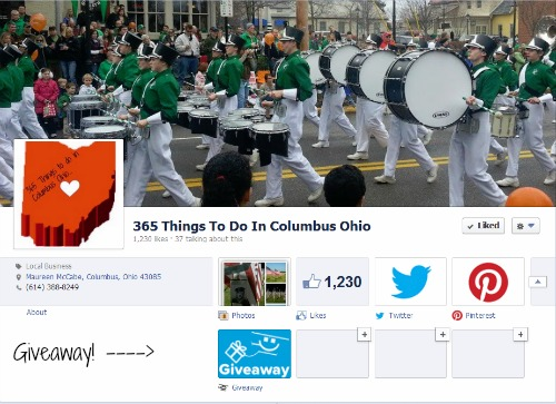 Giveaway on 365 Things to do in Columbus Ohio