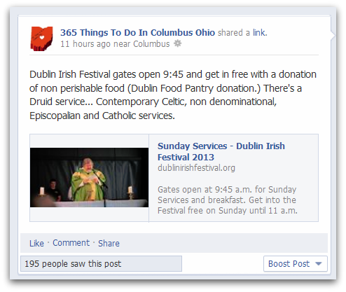 Dublin Irish Festival on 365 ttdico