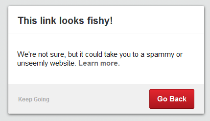 Pinterest This link looks fishy